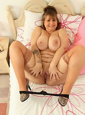 Big breasted housewife Alexa shows off her naughty side