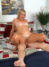 Brunette mature starts acting nasty while at work